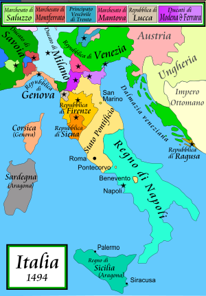 L'Italia nel 1494