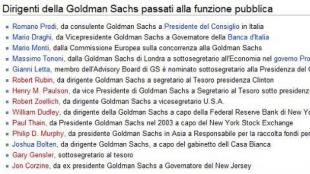 Here's a rundown of the Former Goldmanites that rule the Italian Institutions