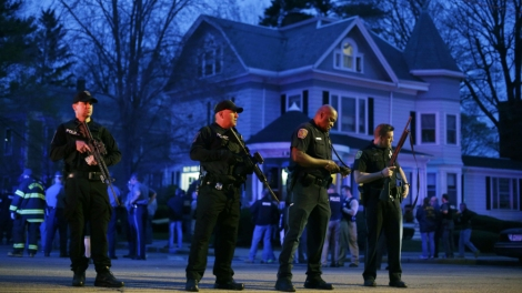 Tense moments before the arrest. AP Photo / Matt Rourke