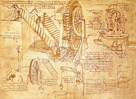 Leonardo Da Vinci designed aqueducts and bridges. He even built a bathroom for the Duchess and stage-managed the feasts, balls and lavish spectacles of the Duke. It was as if he was intoxicated with knowledge of all sorts. He investigated steam as a locomotive power in navigation, magnetic attraction, and the circulation of the blood. He even developed a prototype for a motorcar. However, he was paid less than the court dwarf.
