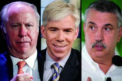 David Gergen, David Gregory, Thomas Friedman. The Grand Bargain is revered among the Sunday Show set. (Credit: Reuters/Lucas Jackson/AP/William B. Plowman/Jeff Malet, maletphoto.com)