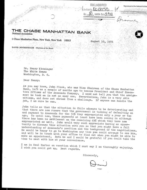 The Chase Manhattan Bank /Anaconda - Kissinger