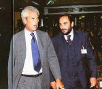 Tronchetti Provera con Giuliano Tavaroli responsabile della sicurezza di Pirelli e, successivamente, del Gruppo Telecom Italia.