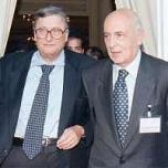 Beniamino Andreatta con Giorgio Napolitano