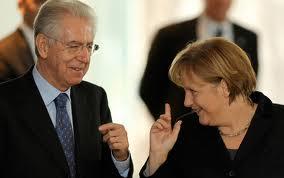 Merkel e Monti