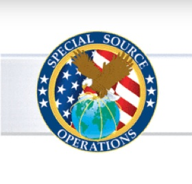 Logo for Special Source Operations branch of NSA from PowerPoint disclosed by Edward Snowden