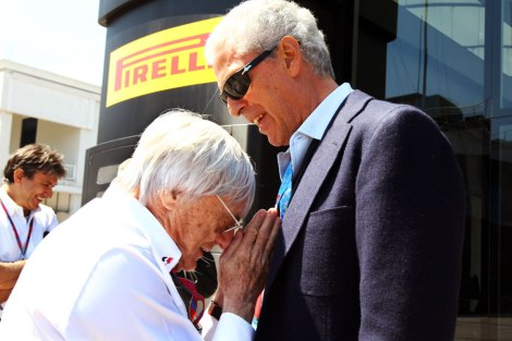 MARCO TRONCHETTI PROVERA (  Milan January 18, 1948. Industrial. Manager. Chairman of Pirelli & C. spa, Pirelli & C. Real Estate SpA, Pirelli Tyre SpA, the Camfin etc. )  and Ecclestone