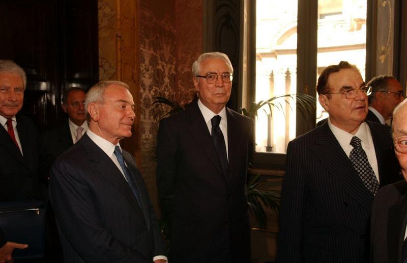 Gianni Letta - Cesare Geronzi - Giancarlo Elia Valori