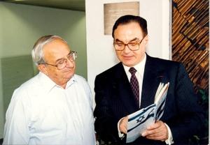 GE Valori e Yitzhak Navon, sesto Capo dello Stato di Israele.