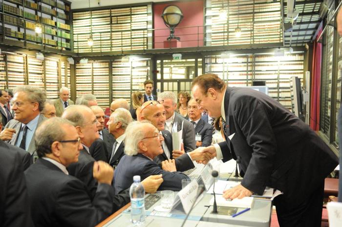 Presentazione istituzionale del libro di Giancarlo Elia Valori: Petrolio, la nuova geopolitica del potere. Montecitorio, Sala del Mappamondo