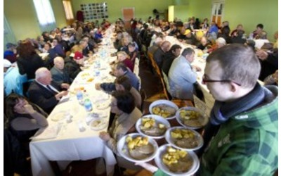 Today, the Western middle class makes the line at the soup kitchen.