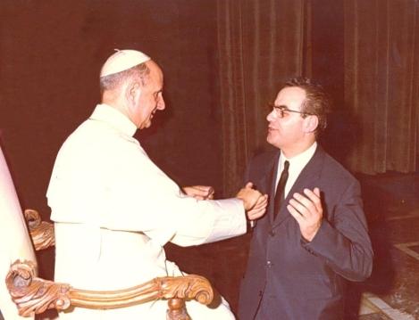 Papa Paolo VI e G.E. Valori.