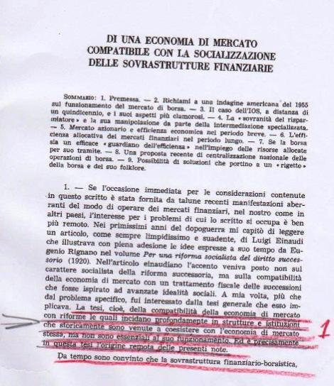 prima pagiona articolo Federico Caffè