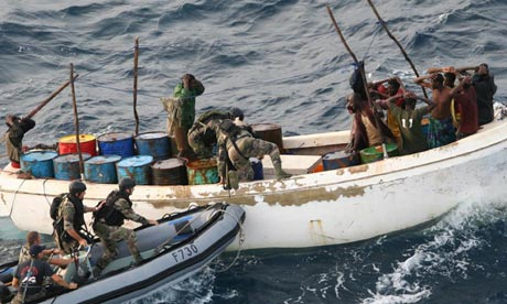 A scratch international fleet currently patrols the Indian Ocean in search of pirates, an approach that is 'nearly useless'. Photograph: AP