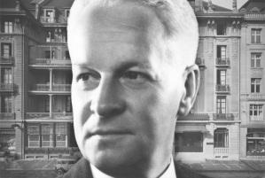 Thomas Harrington McKittrick (data sconosciuta) e il quartier generale della BRI nel 1931, in un ex albergo a Basilea, in Svizzera. (Collage Tablet Magazine, foto originali per gentile concessione di BIS)